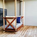 outdoor fireplace swing with warm doublesided fireplace
