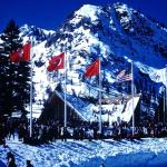 USA and Russia flags at the Squaw Olympics