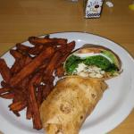 Chicken and tomato wrap