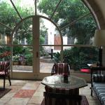 Hotel Lobby View of the Patio Garden