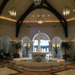 Part of the hotel lobby