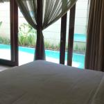 View of pool from bedroom