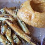 Onion Rings and Seasoned Fries Parmesan and Herb