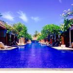 The pool at Luce D'Alma hotel on Gili Trawangan!
