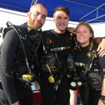 About to complete our final dive on the course!