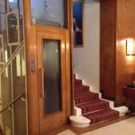 Old style elevator. This is a very nice hotel