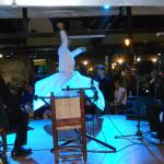 A whirling dirvish at a restaurant one evening