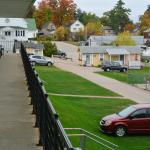 View of Motel Grounds from Upper Floor