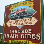 Sign at Boardwalk Train Station