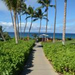 Walkway from pool area to the beach