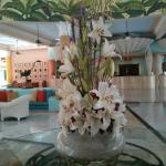 Flowers in del Mar lobby