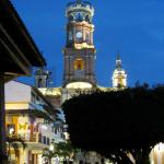 The Church of Our Lady of Guadalupe at dusk