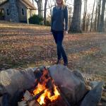 Shannnn at the firepit