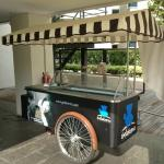 ice cream stall at pool side