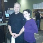 Robert (our chef) and Lumi (our server)