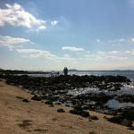 The beautiful beach within walking distance from the jetty