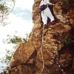 Cliff near summit Olamana