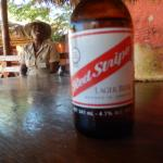 Local Red Stripe beer.