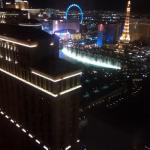 Bellagio's water show from ouro window