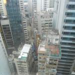 view down from hotel