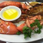 Jumbo lobsters cooked to perfection