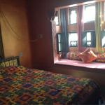 Colourfully decorated room