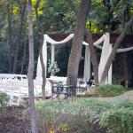 The gazebo for the events out in the wooded area.