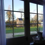 View of courtyard from Room 8 at Dumfries House Lodge