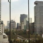 View of the Paseo de la Reforma from the suite