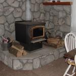 Dining area woodstove