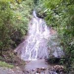 Waterfall in the jungle on ATV ride