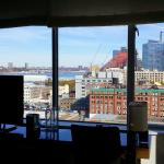 view from Corner King Deluxe room toward Hudson River