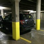 SUV in underground parking