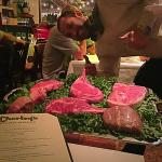 Our amazing server Ivan telling us about the different cuts of meats!