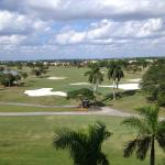 View of golf course from our room