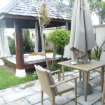 outdoor table and chairs and private sala