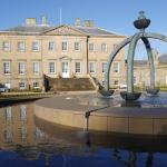 Dumfries House and new fountain