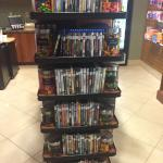 Store in Lobby with movies to rent.
