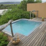 Our private plunge pool overlooking the lake