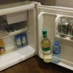 The full fridge with free drinks