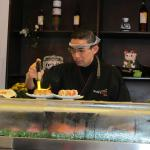 SushiCage's sous chef, what a fast and intense artist.