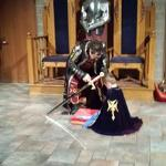 Sir Brayden being Knighted.  Happy 4th Birthday.