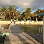 Looking from the dock to the resort