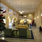 Lobby of the hotel (Guest check-in to the left)