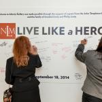 Visitors leave messages letting others know how they will Live Like a Hero.