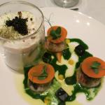 Starters - Scallops with Irish caviar