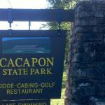 Cacapon Stone Sign