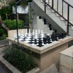 Giant chessboard outside