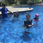 Scuba diving for the big and little kids in the main pool
