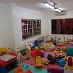 A view from inside the children's play area